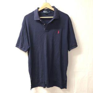 Polo Ralph Lauren large navy blue polo shirt